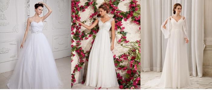 cheap floor lenght wedding dresses chiffon white lace court train 1 (700x298)