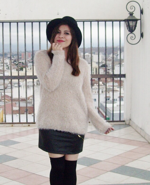 fluffy-cream-sweater-faux-leather-skirt-mini-thigh-high-stockings-fall-winter2015-streetstyle10