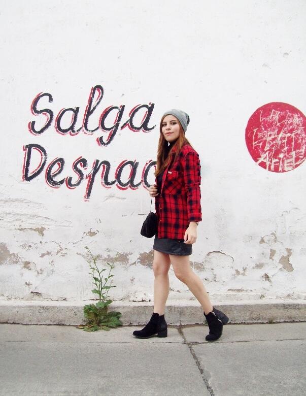 tartan-plaid-shirt-leather-mini-skirt-black-turtleneck-fall2015-ankle-boots06