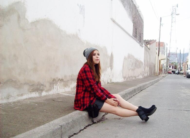 tartan-plaid-shirt-leather-mini-skirt-black-turtleneck-fall2015-ankle-boots08