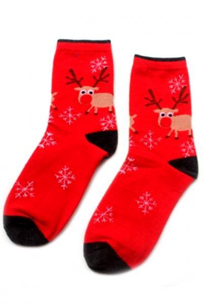 elk-red-ankle-socks