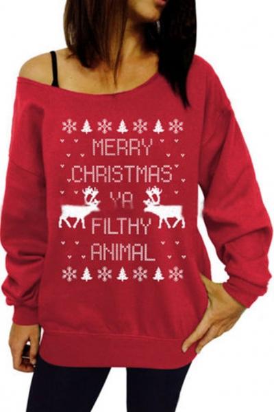 merry-christmas-print-round-neck-knit-sweatshirt