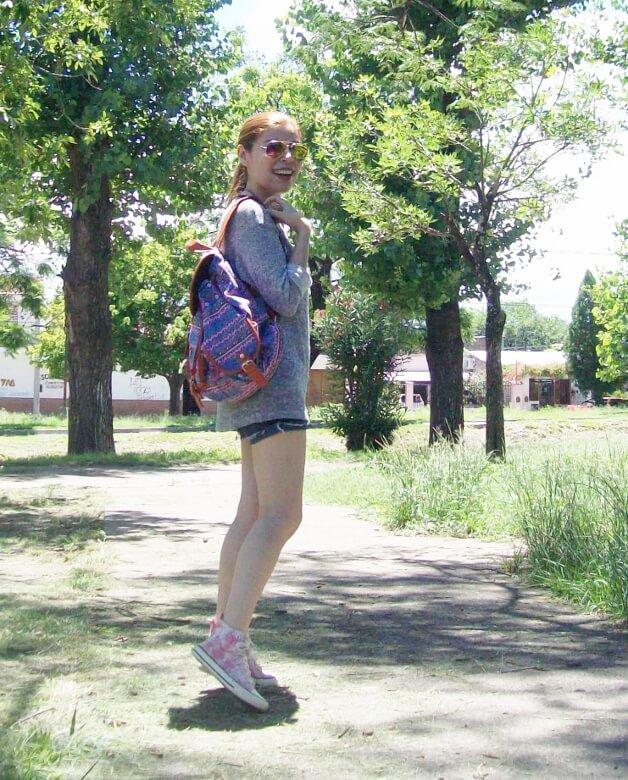 summer-light-sweater-denim-shorts-spring-summer-2016-backpack-trends-pink-sneakers-yellow-mirrored-aviator-sunglasses01