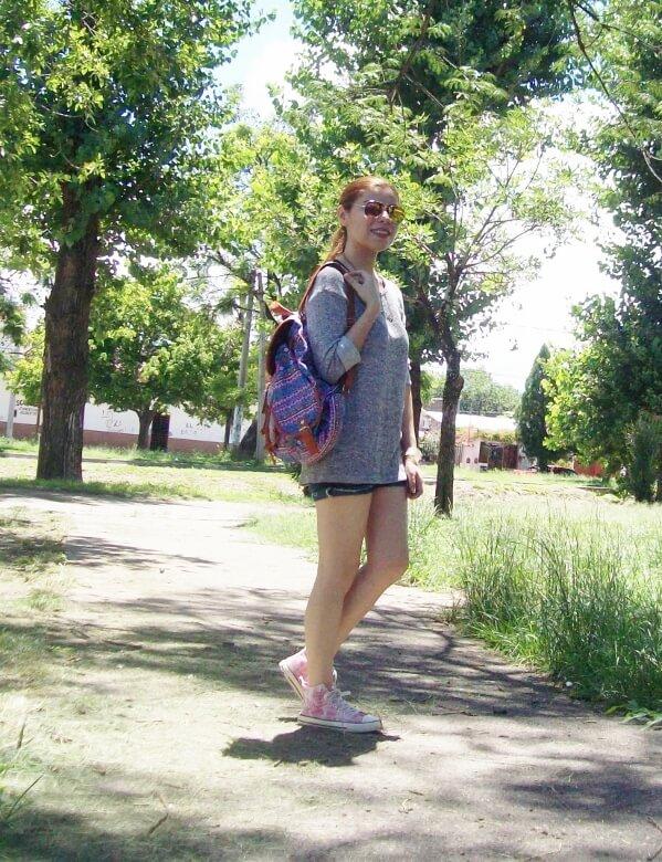 summer-light-sweater-denim-shorts-spring-summer-2016-backpack-trends-pink-sneakers-yellow-mirrored-aviator-sunglasses02