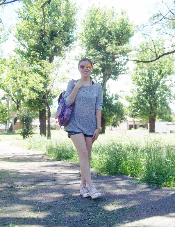 summer-light-sweater-denim-shorts-spring-summer-2016-backpack-trends-pink-sneakers-yellow-mirrored-aviator-sunglasses05