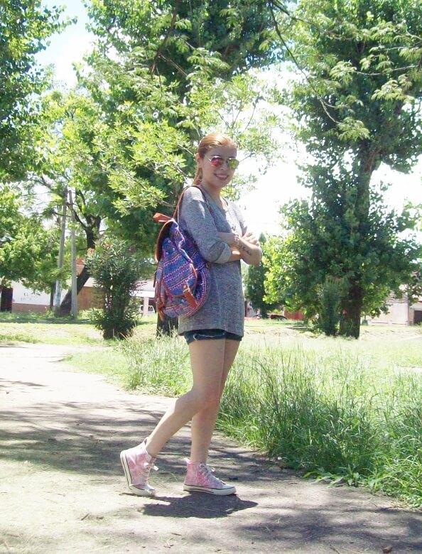 summer-light-sweater-denim-shorts-spring-summer-2016-backpack-trends-pink-sneakers-yellow-mirrored-aviator-sunglasses07