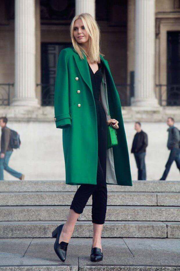 02 - tuulavintage - long green coat stylish st patricks outfit ideas