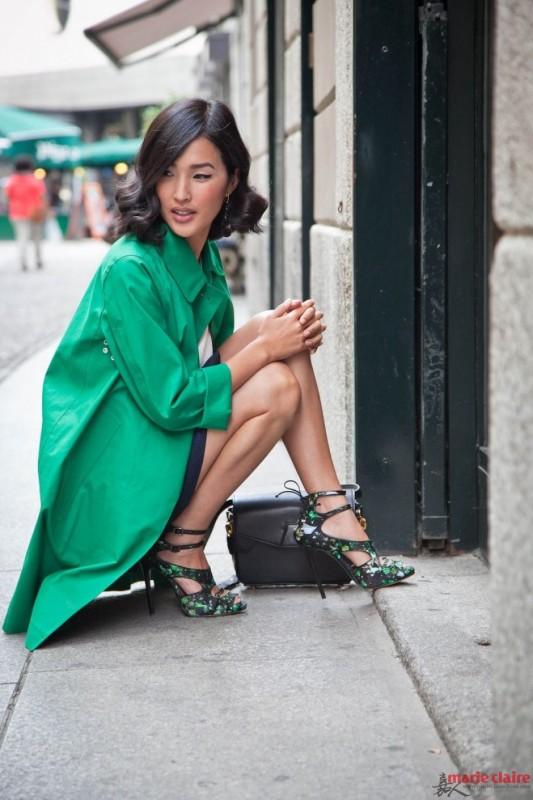 11 - gary pepper girl green dress glitter shoes stylish st patrciks outfit ideas