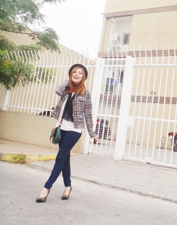 tweed-jacket-skinny-tie-scarf-skinny-jeans-animal-print-stiletto-shoes-black-fedora-fall-winter2016-trends-deborah-ferrero-style-by-deb09