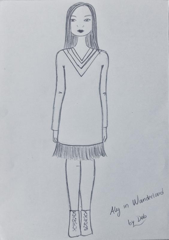 02-alyssa aly in wanderland illustration by deb
