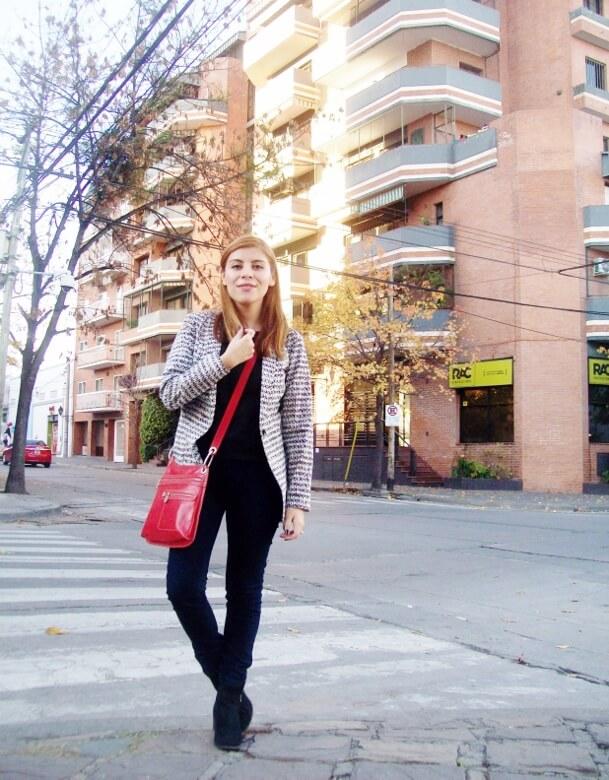 black and white patterned boyfriend blazer dark blue skinny jeans fall autumn 2016 trends fashion blogger salta argentina deborah ferrero style by deb 02