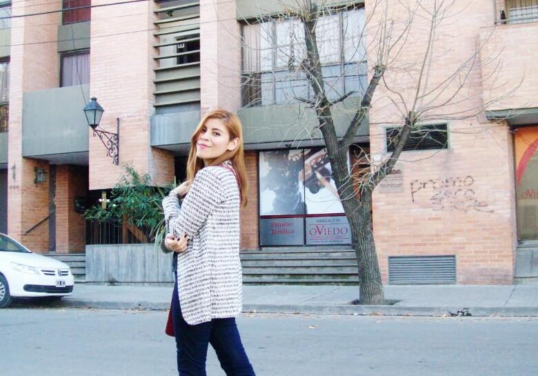 black and white patterned boyfriend blazer dark blue skinny jeans fall autumn 2016 trends fashion blogger salta argentina deborah ferrero style by deb 04