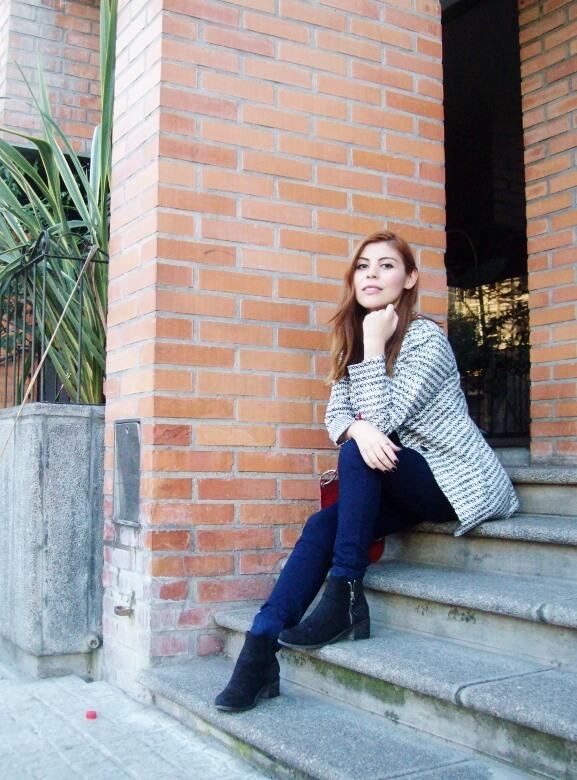 black and white patterned boyfriend blazer dark blue skinny jeans fall autumn 2016 trends fashion blogger salta argentina deborah ferrero style by deb 05