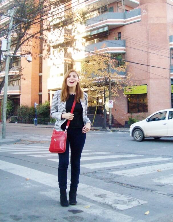 black and white patterned boyfriend blazer dark blue skinny jeans fall autumn 2016 trends fashion blogger salta argentina deborah ferrero style by deb 09