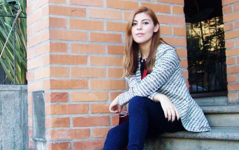 black and white patterned boyfriend blazer dark blue skinny jeans fall autumn 2016 trends fashion blogger salta argentina deborah ferrero style by deb 10