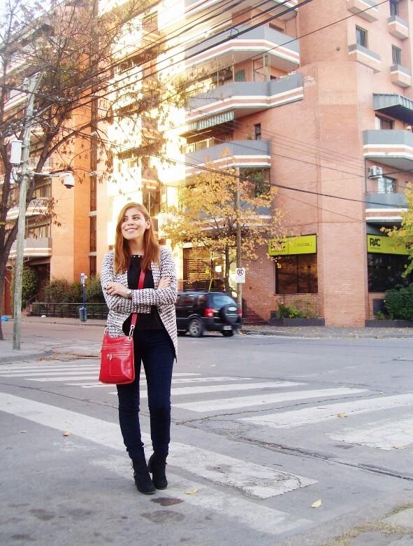 black and white patterned boyfriend blazer dark blue skinny jeans fall autumn 2016 trends fashion blogger salta argentina deborah ferrero style by deb 12