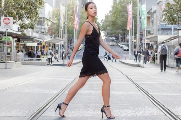 night5 - lbd little black dress lace details fashion blogger streetstyle black sandals how to wear slip dress trend 2016