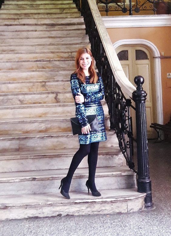 birthday outfit for winter shein sequined dress black tights newdress leather clutch deborah ferrero style by deb fall winter 2016 trends06