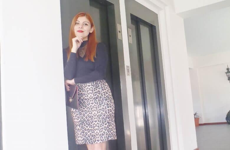 animal print pencil skirt black turtleneck zaful shoes laceup nude stilettos newdress leather clutch office chic style by deb deborah ferrero06