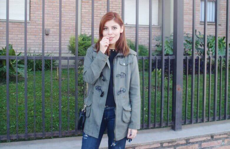 military green parka american mix sweater ripped distressed jeans deborah ferrero style by deb fall 2016 trends07