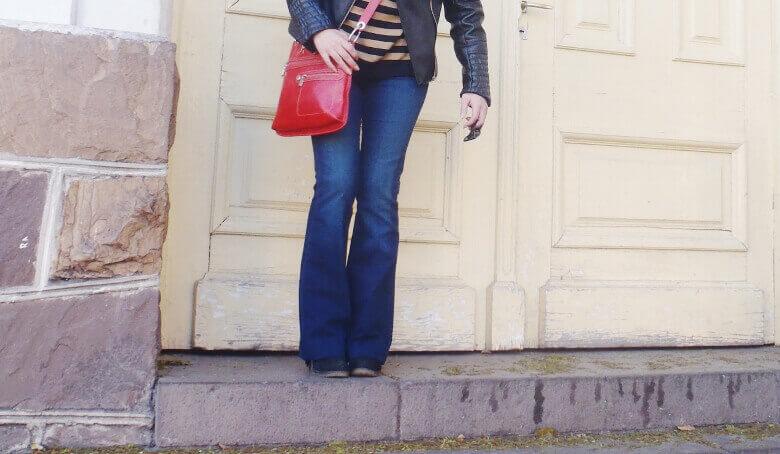 zaful leather jacket biker flare jeans stripey sweater deborah ferrero style by deb fall 2016 trends04