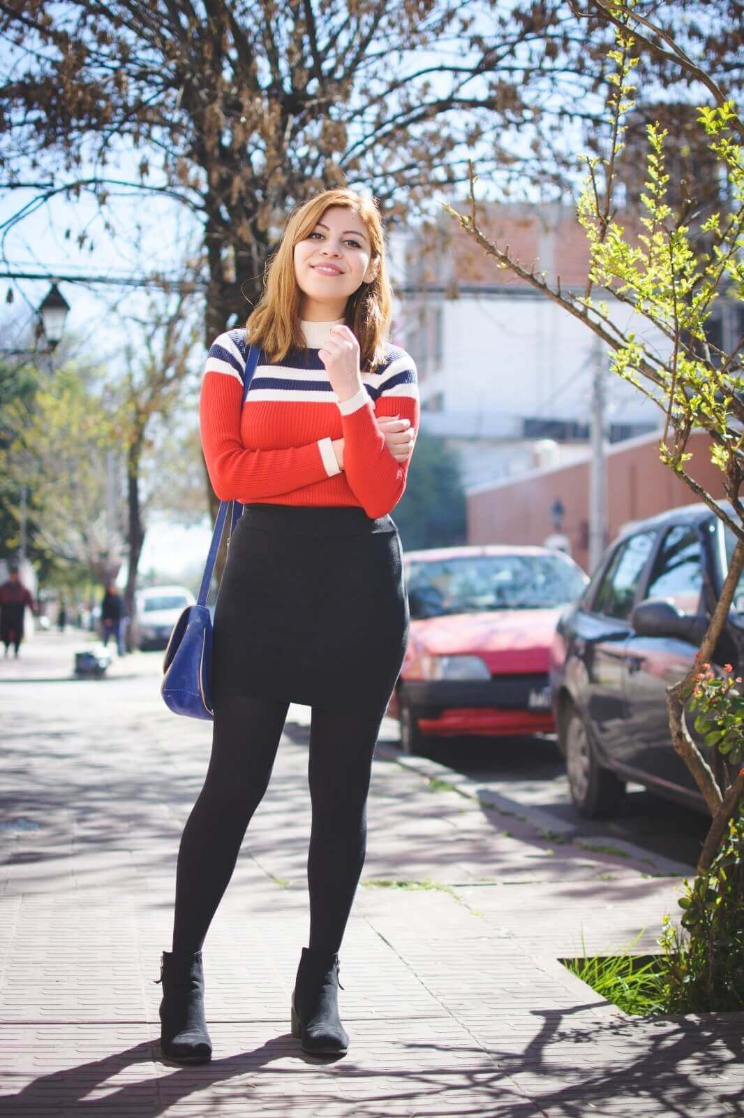 red-blue-and-white-striped-turtleneck-black-mini-skirt-tights-ankle-boots-deborah-ferrero-style-by-deb-fall-2016-trends01