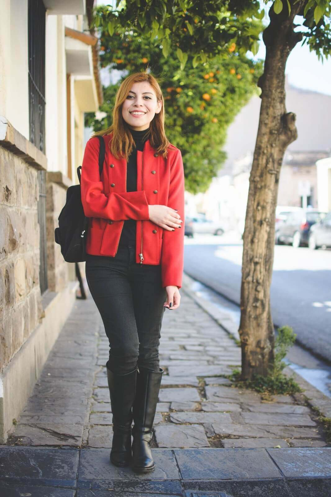 red-military-jacekt-black-leather-riding-boots-fall-2016-trends-style-by-deb-deborah-ferrero06