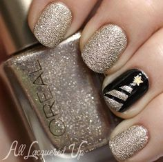 13-nailart-in-black-and-golden-all-laquered-up