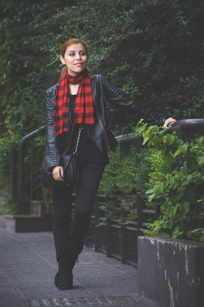 all black outfit zaful biker faux leather jacket newchic bag luna crossbody bag deborah ferrero style by deb09