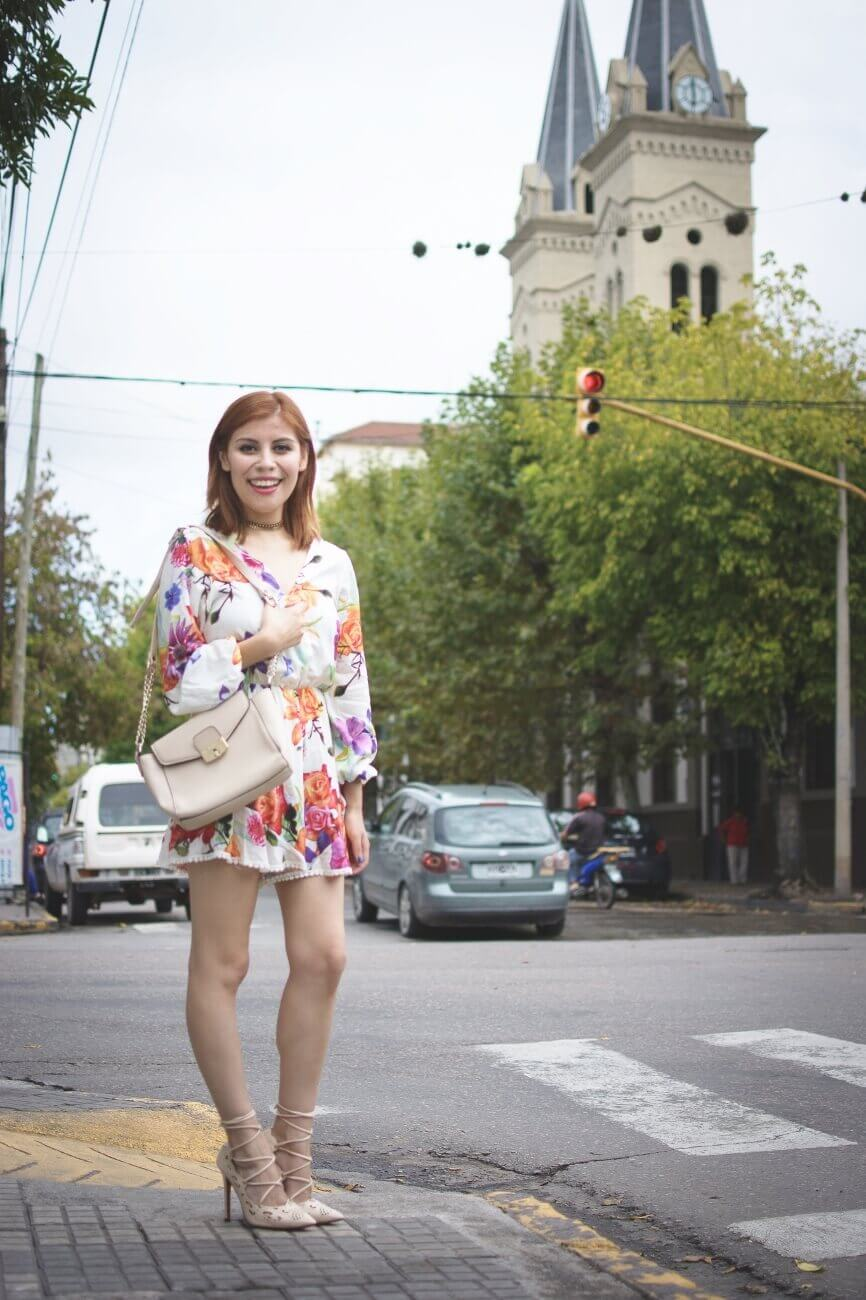 zaful floral romper nude lace up stiletto shoes laser cut pumps deborah ferrero streetstyle salta style by deb blogger argentina15