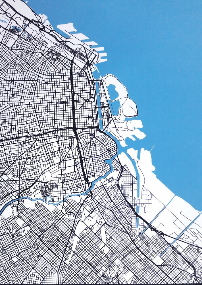buenos aires wall art modern map art review argentina