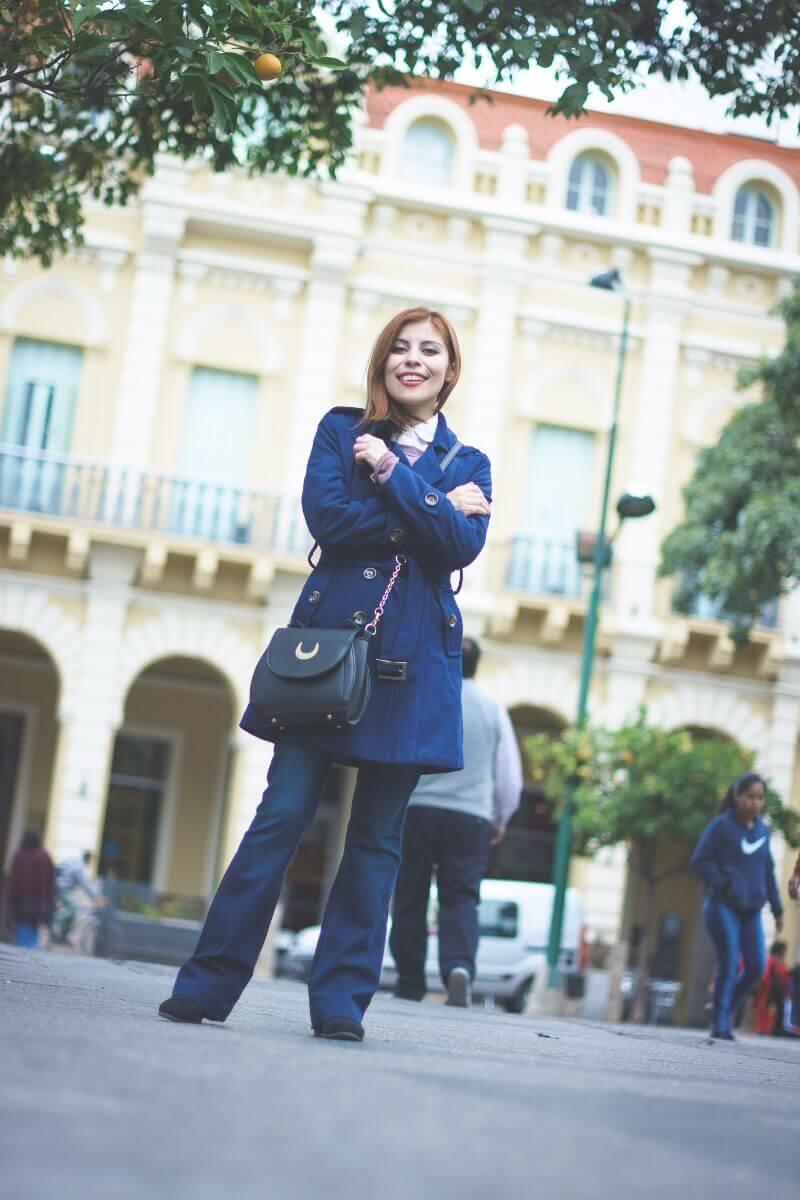 lightinthebox blue coat flare jeans deborah ferrero salta streetstyle style by deb
