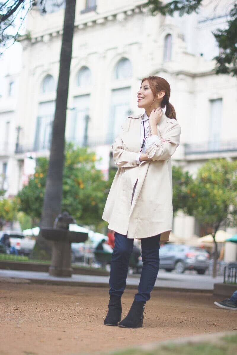 lightinthebox khaki trenchcoat review deborah ferrero style by deb