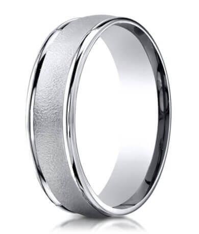 Designer Palladium Mens Wedding Ring With Wired Finish 6mm pinterest