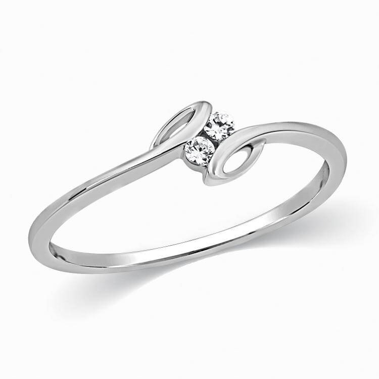 Diamond Platinum Ring for Girls SJ PTO 301 jewelove