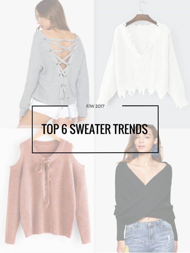 top 6 sweater trends for fall winter 2017 ft zaful