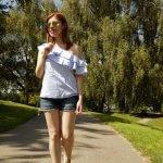 SUMMER MEMORIES: ONE-SHOULDER TOP IN GREENWICH PARK