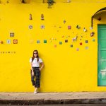 BLACK & WHITE OUTFIT + YELLOW WALL