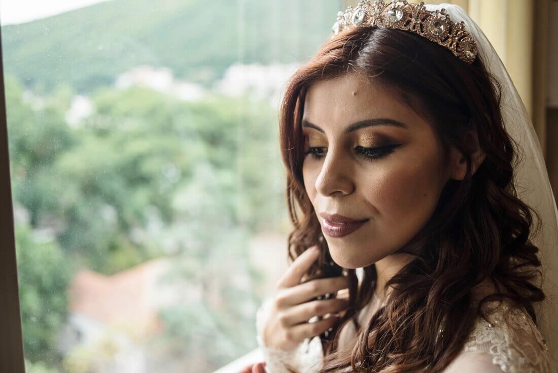 autumn wedding bridal makeup