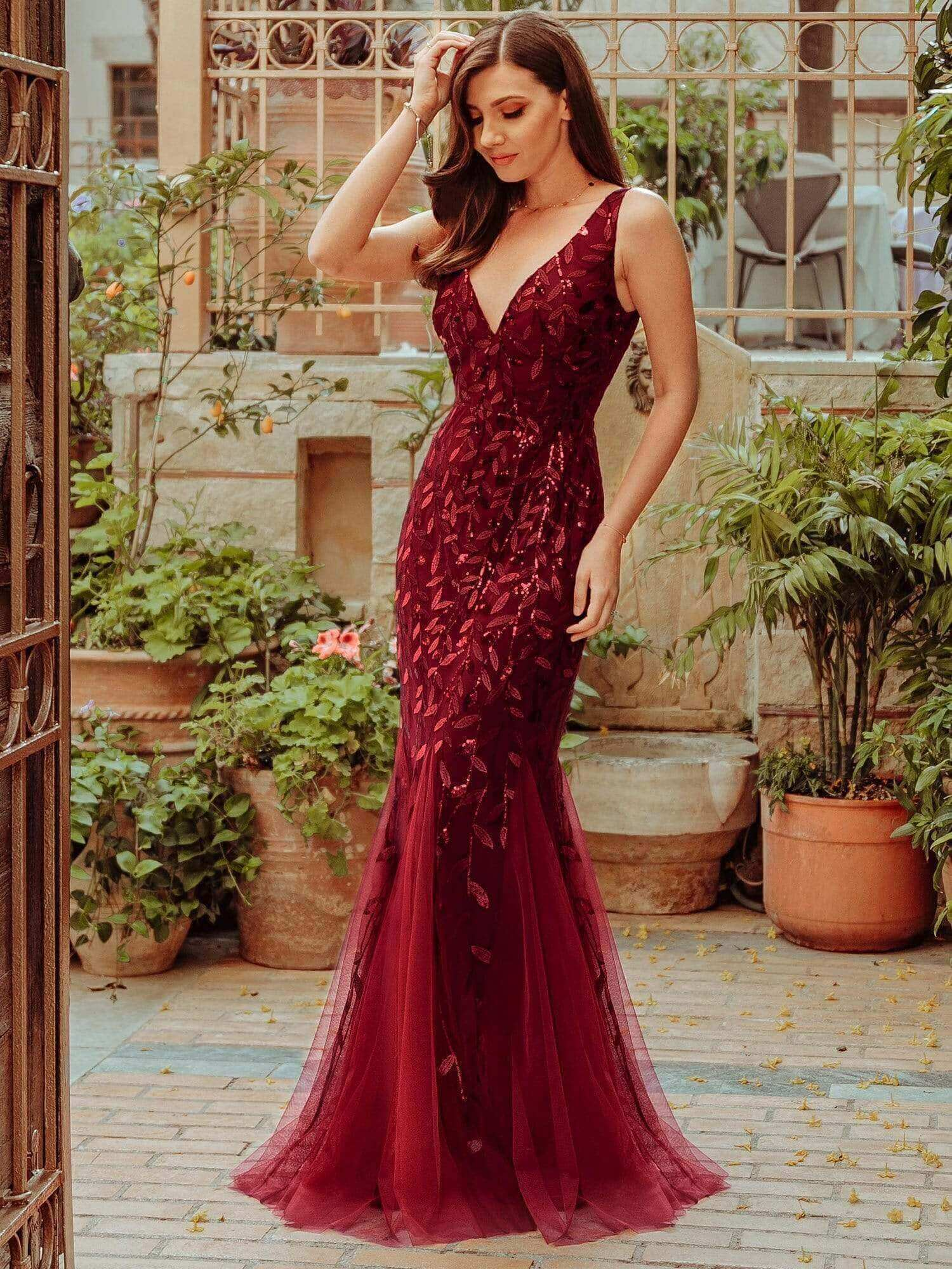 ever pretty burgundy expensive looking yet affordable cheap gown