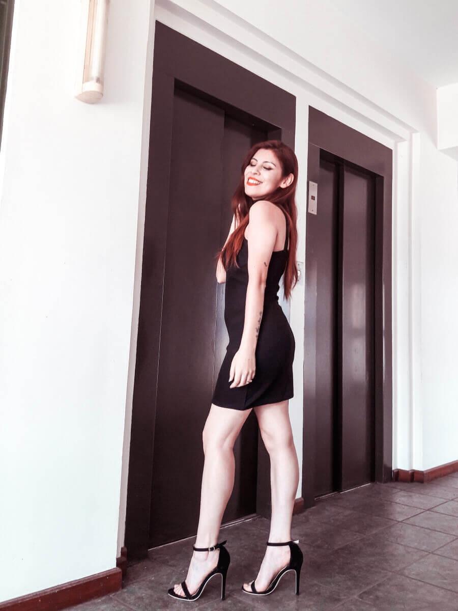 femme luxe lbd little black dress deborah ferrero style by deb