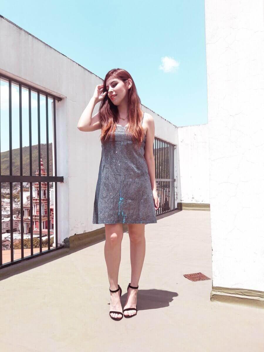 femmeluxe glitter dress deborah ferrero style by deb