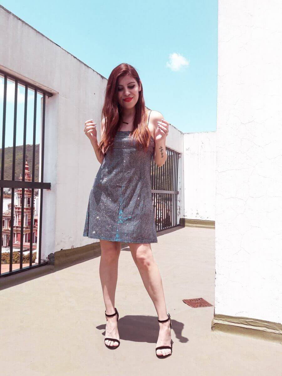 femmeluxe finery glitter dress deborah ferrero style by deb