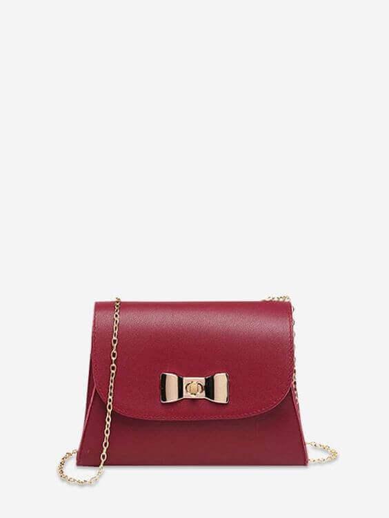 dresslily cheap affordable burgundy bag