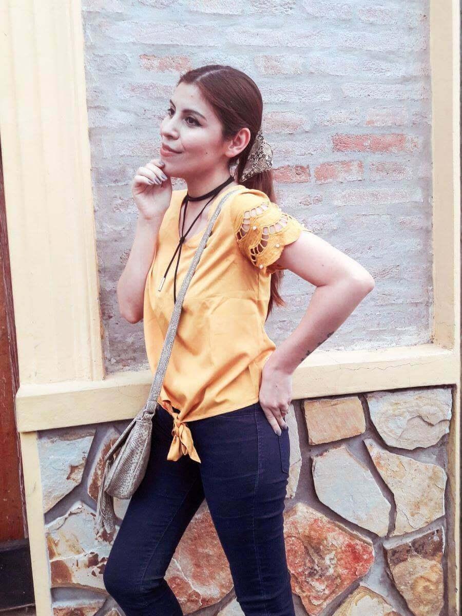 oeyes mustard yellow top deborah ferrero style by deb