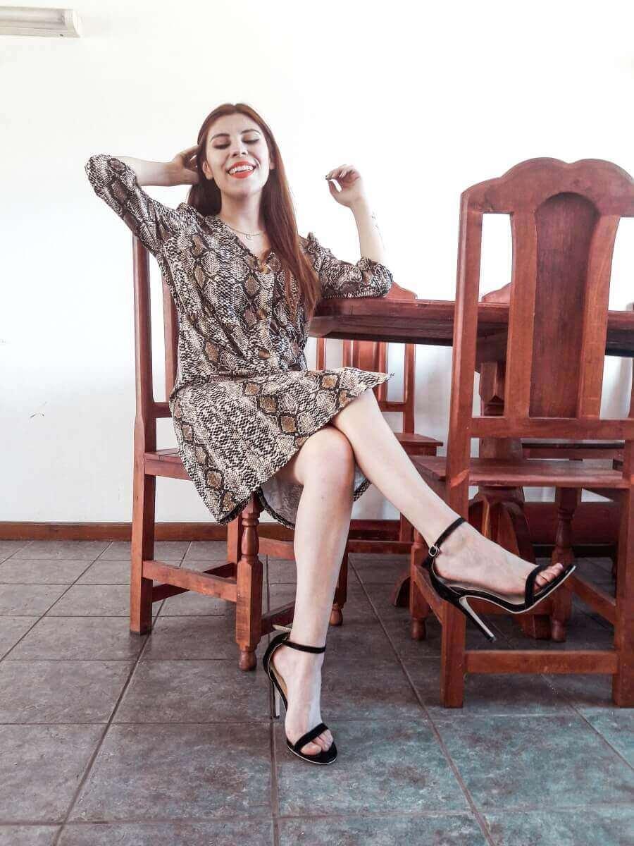 snakeskin dress deborah ferrero dresslily