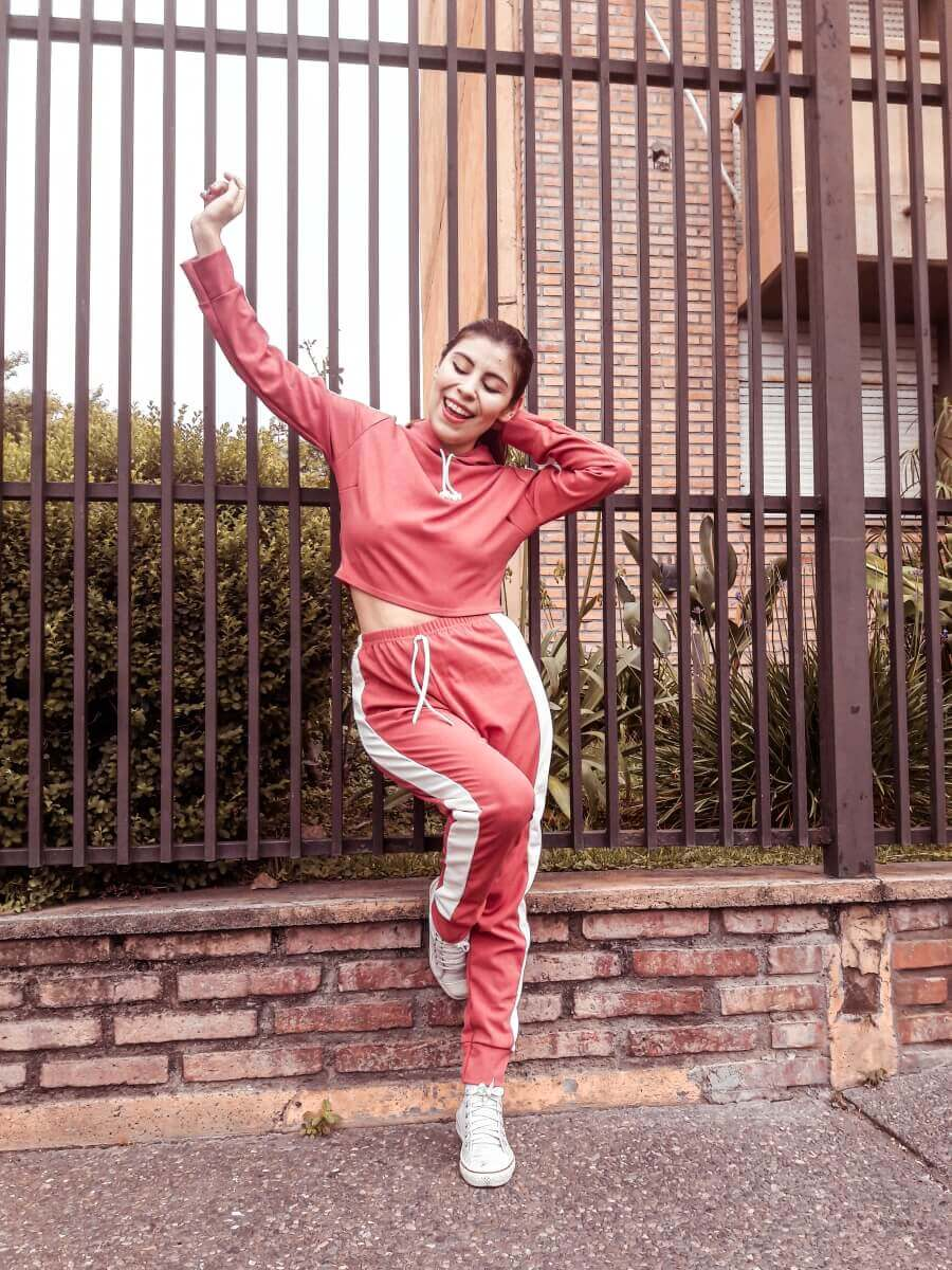 femmeluxe cropped tracksuit midriff style