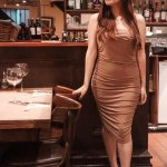 FEMMELUXE NUDE RUCHED DRESS