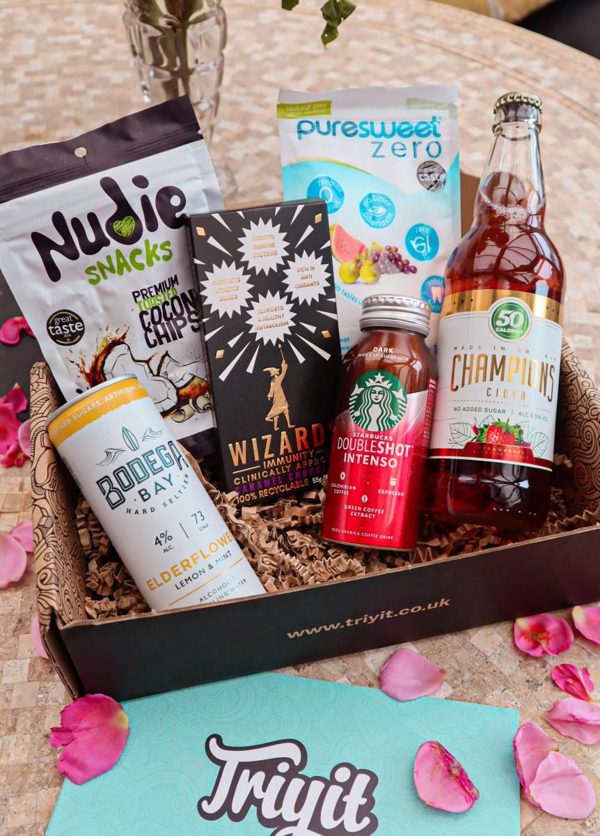 Triyit UK snacks box deborah ferrero style by deb