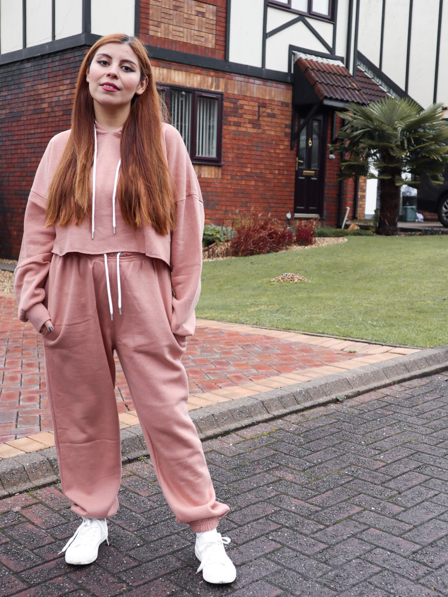 femmeluxe finery pink tracksuit